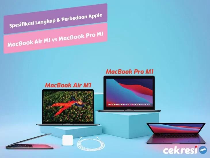 Spesifikasi Lengkap dan Perbedaan Apple MacBook Air M1 vs Apple MacBook Pro M1
