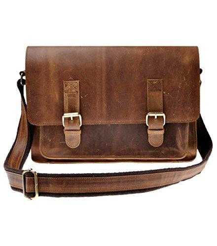 ZLYC Men Vintage HANDMADE Leather 15