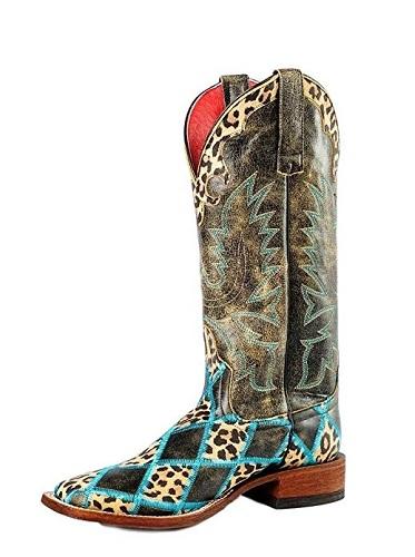 Macie Bean Women's Leopard Western Jungle Boots (M9067) – Black