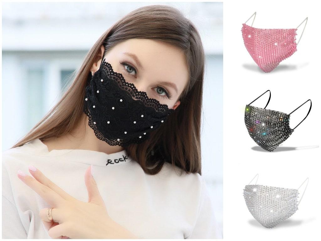 1. Rhinestone Face Masks - Teenage Fashion Trends