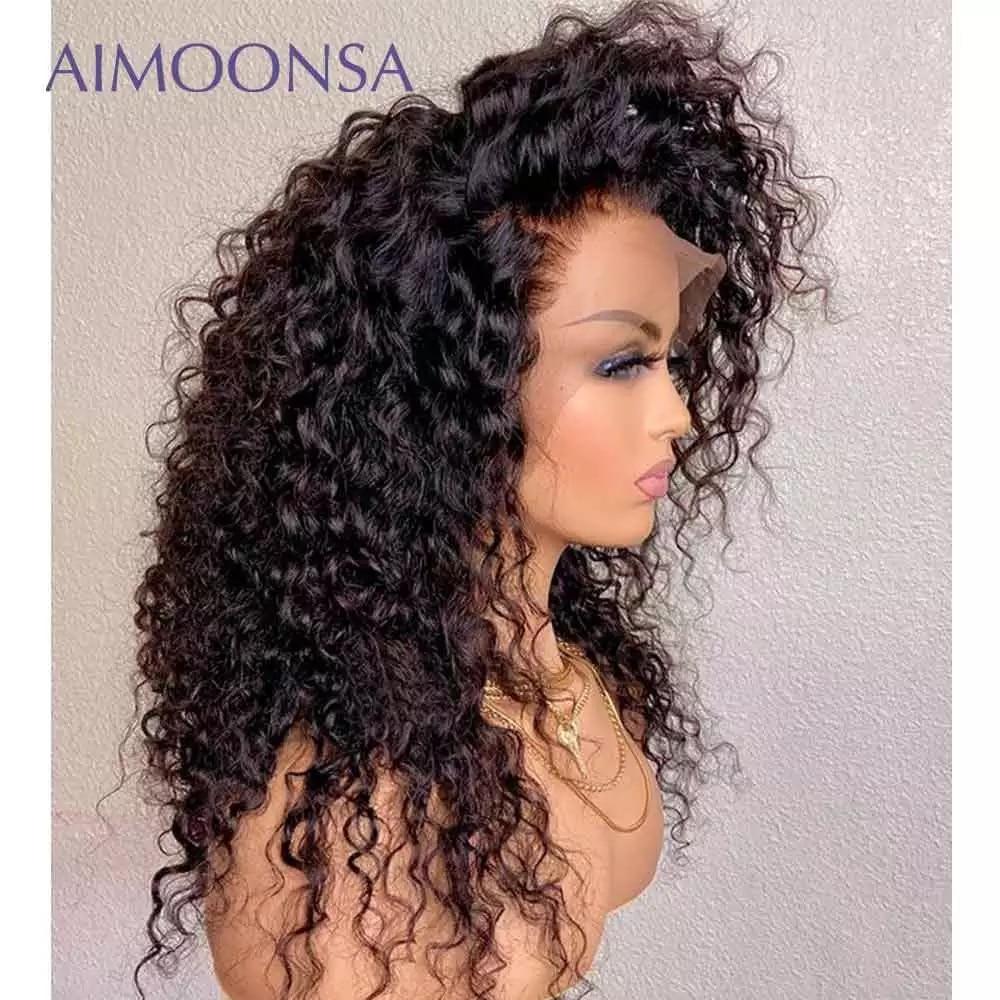 1.10. Aimoonsa Curly Human Hair Wig-AliExpress Curly Hair
