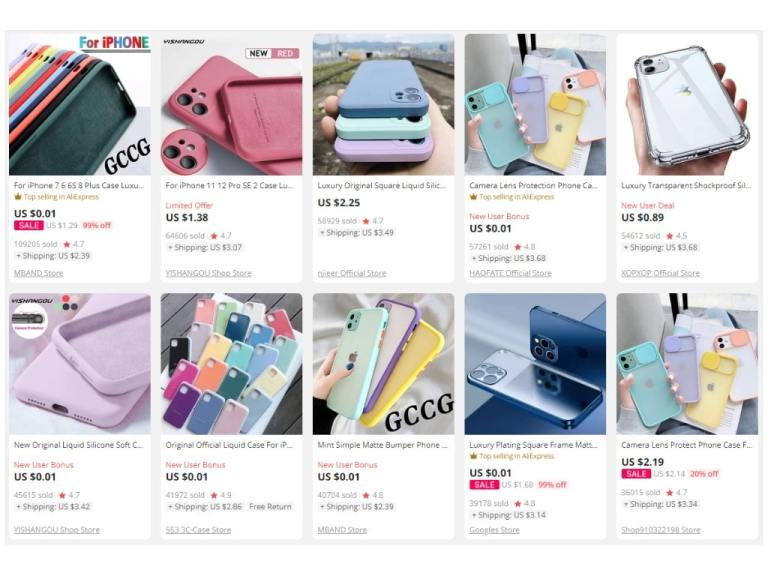 2. Silicon Cases for iPhone-aliexpress top selling products