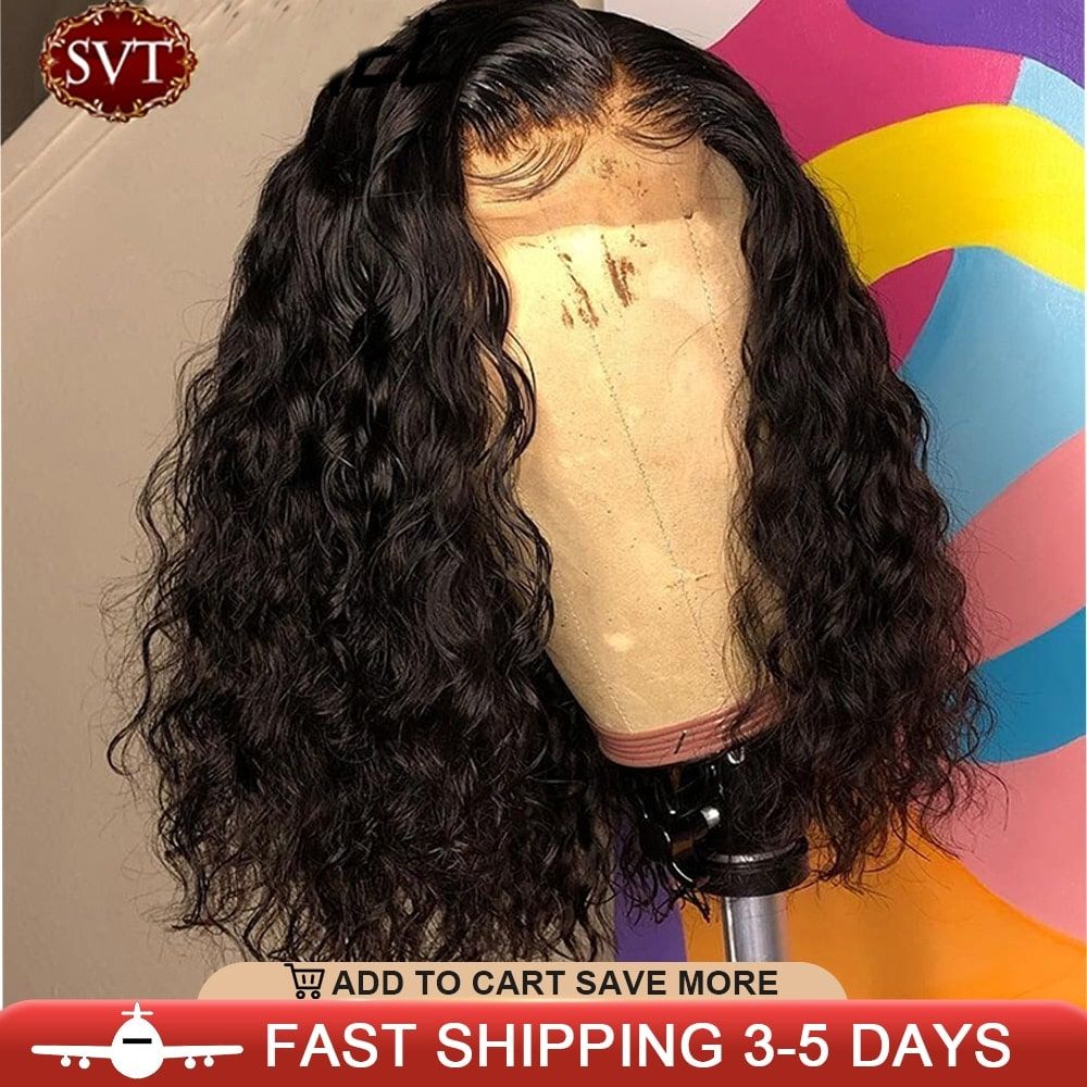 2.2. SVT Brazilian Short Bob Curly Remy Hair-Best AliExpress