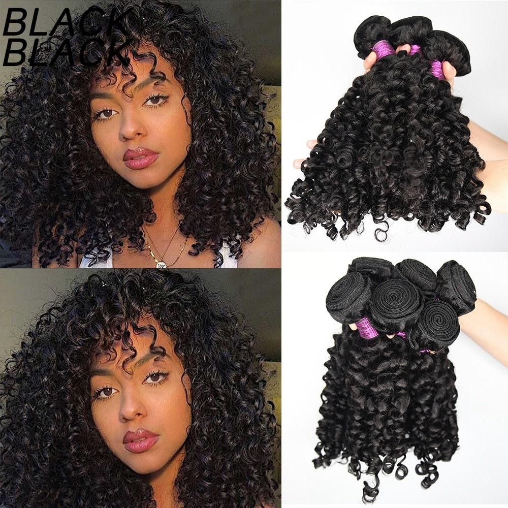 2.7. Black Black Indian Remy Hair Wigs-Best AliExpress