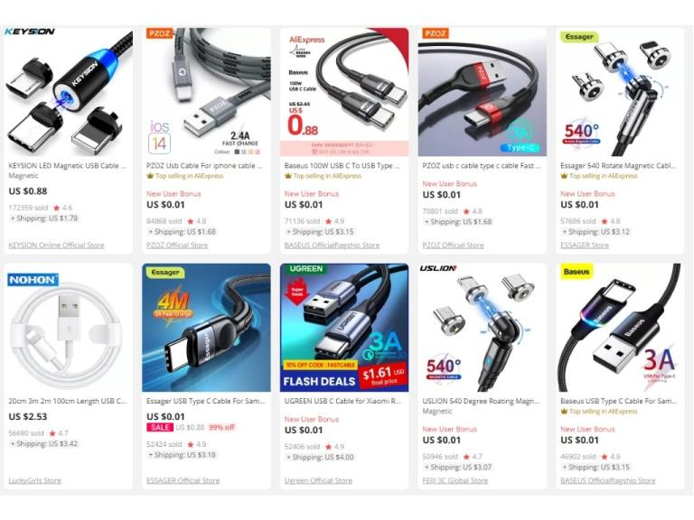3. Mobile Data Cables-aliexpress top selling products