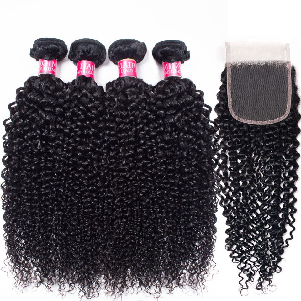 3.2. Lanqi Mongolian Kinky Curly Non Remy Human Hair-Best AliExpress