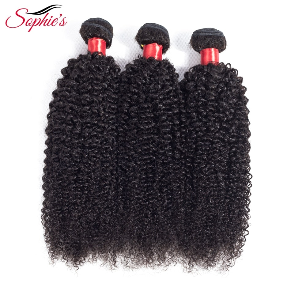 3.6. Sophie's Peruvian Kinky Curly Hair Non-Remy Bundles-Best AliExpress