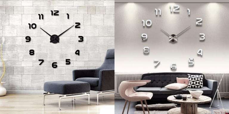 W1. Big Mirror 3D DIY Wall Clock-top selling products on aliexpress