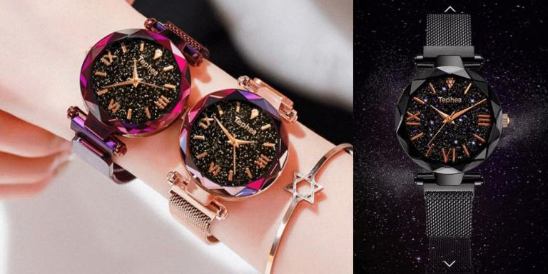 W3. Luxury Magnetic Starry Female Wrist Watch-best selling aliexpress products