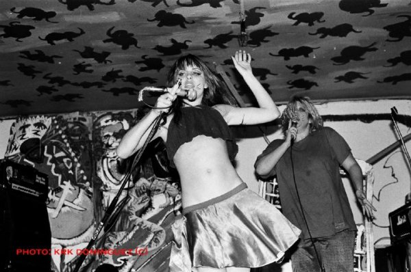 Lisa Carver, pre-nude punkrock performance.