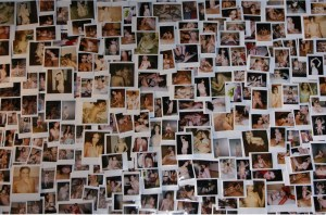 Polaroids wall, WE MUST REMAIN THE WILDHEARTED OUTSIDERS.