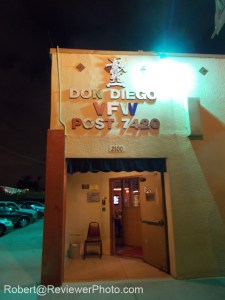 Front door to the Don Diego VFW Hall on Logan Avenue. Photo by Robert@ReviewerPhoto.com.