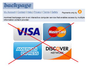 Backpage.com no longer accepts any other payment than Bitcoin?