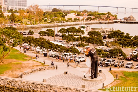 Unconditional Surrender, the sculpture, at San Diego Bay, between Seaport Village and the USS Midway.