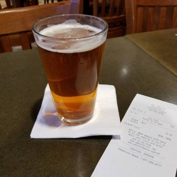 """Workhose IPA, from Laurelwood Brewery, PDX. It's not """"Whorehouse IPA""""."""