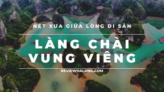 Toàn cảnh làng chài Vung Viêng từ trên cao