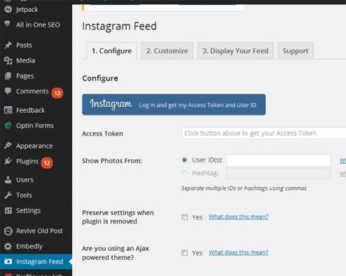 Displaying Instagram Photos On WordPress Site 1
