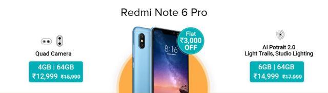 Mi Days Sale - Redmi Note 6 Pro
