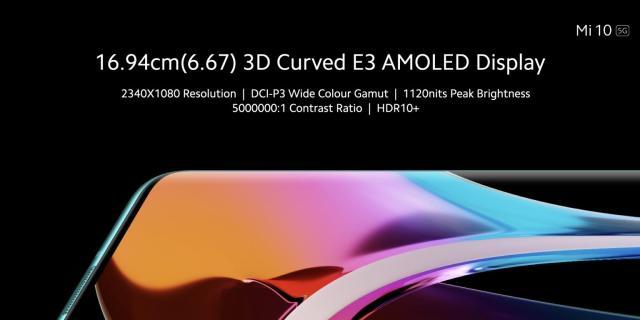 Mi 10 3D Curved AMOLED Display