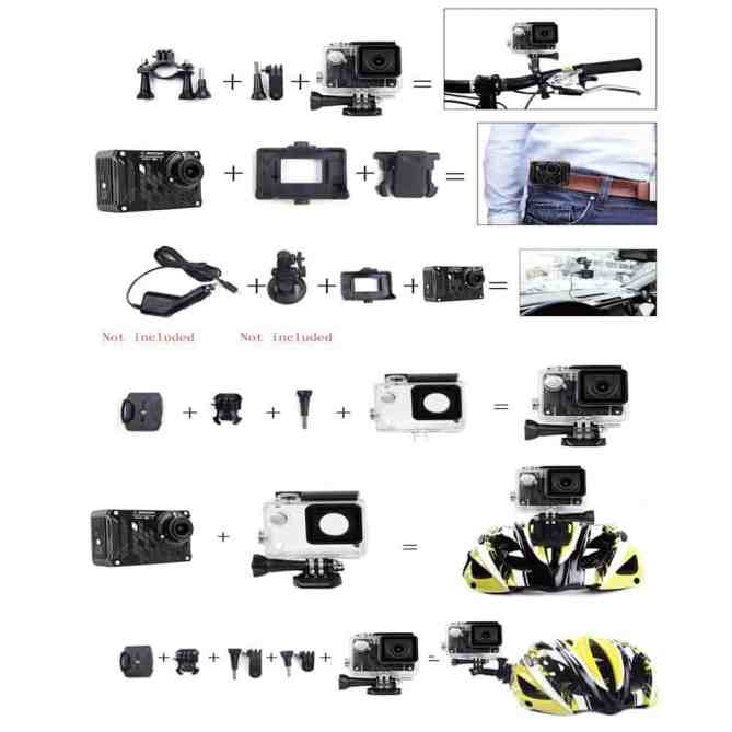 SOOCOO S33WS Pro WiFi Sport Action Camera Combinations