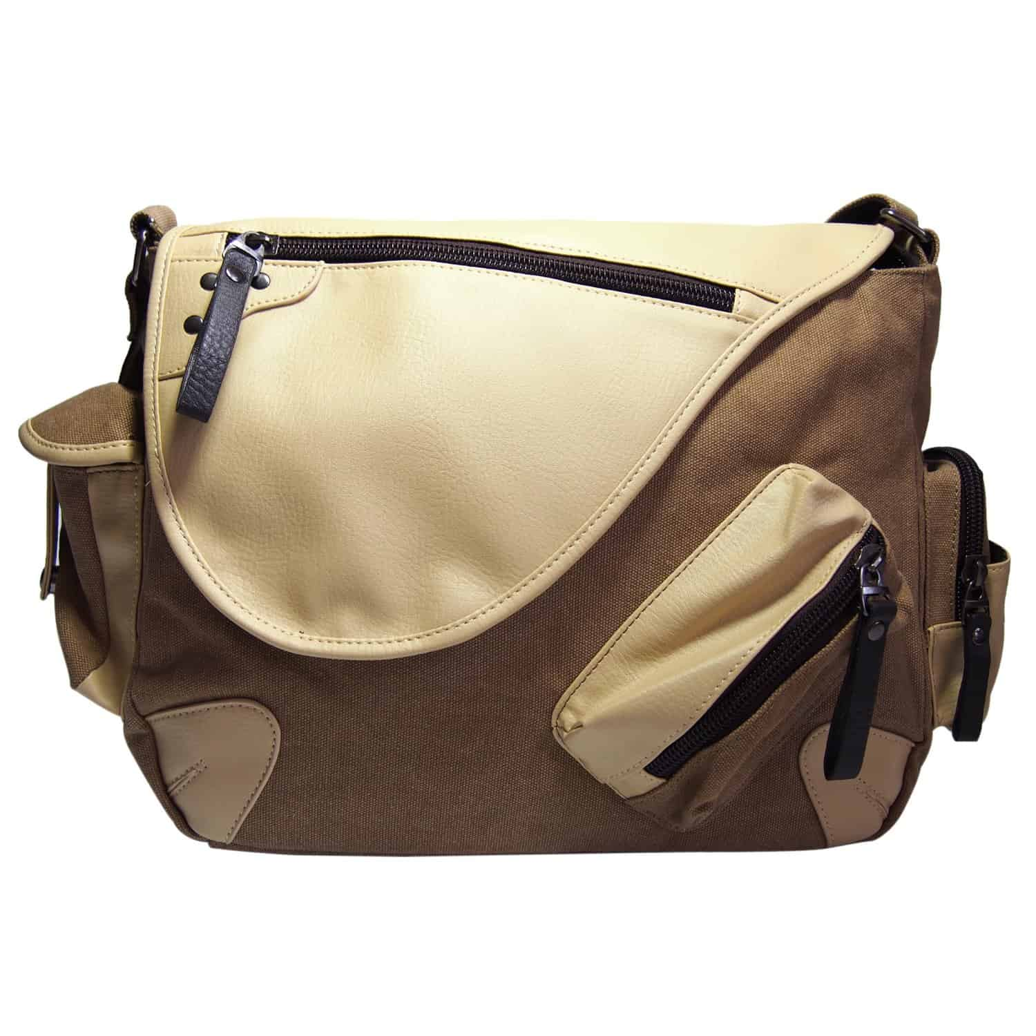 Samic Classic Vintage Canvas PU Leather Messenger Bag Review