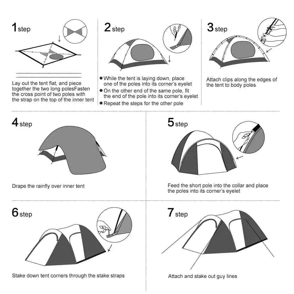 Enkeeo Waterproof Backpacking 4 Person Tent Review Reviewify