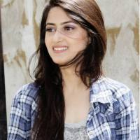 Sajal Ali beautiful hairstyle