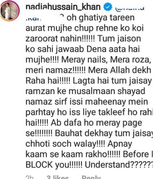 Nadia Hussain Shuts Down Trolls 63
