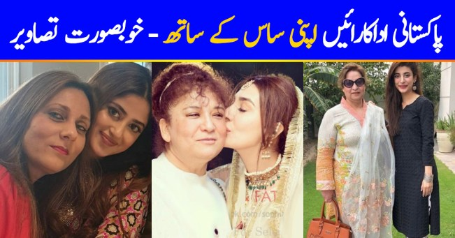 Pakistani Actresses With Their Graceful Mothers In law 2