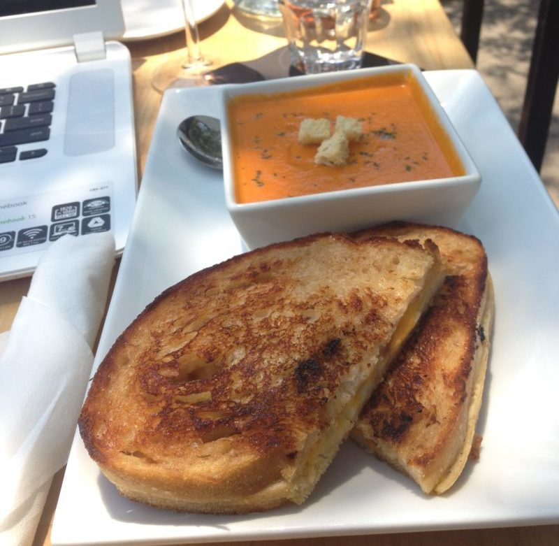Grill Cheese and Tomato Soup at Five Points Tavern