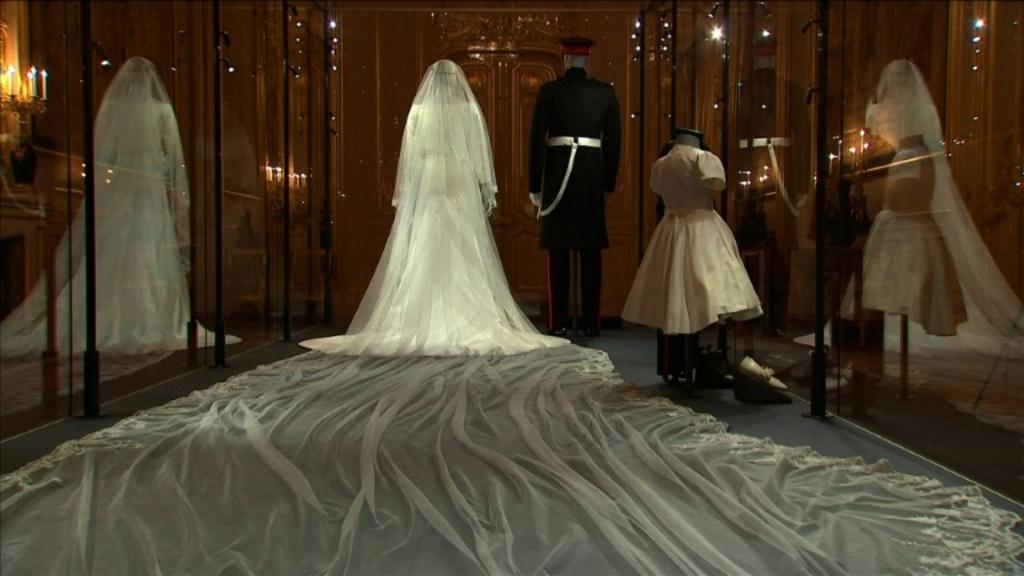 Meghan Markle's Wedding Dress On Display At Windsor Castle