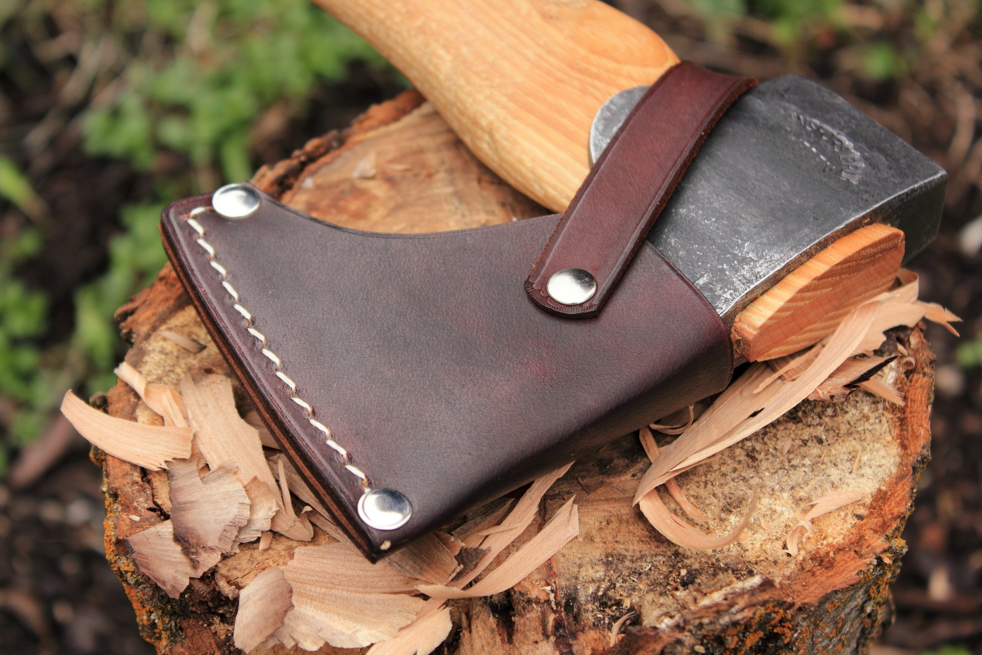Axe Sheath for Gransfors Bruks Hand Hatchet (and G B  Large Carving  Hatchet, Carved Handle)