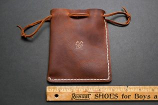 Handmade Rustic Leather Multipurpose Pouch-09