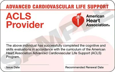 advanced Cardiac Life Support Certification