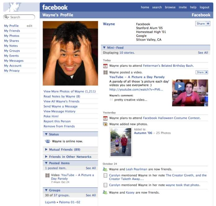 Evolution of Facebook 4