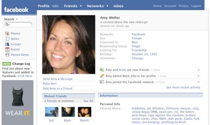 Evolution of Facebook 5