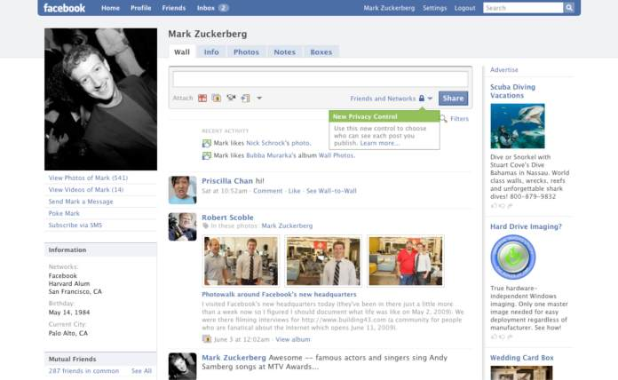 Evolution of Facebook 7