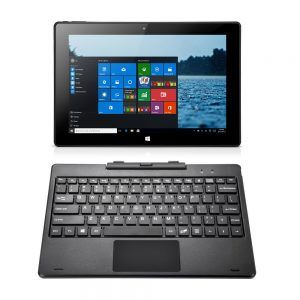 iRULU WalknBook 3 10.1 Inch Notebook, Hybrid 2 in 1 Tablet PC, Microsoft Windows 10 Operation System, Quad Core, Detachable Keyboard (Dark Gray)