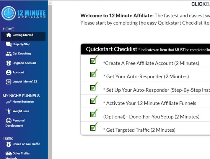12 Min Set Up - 12 Minute Affiliate Review