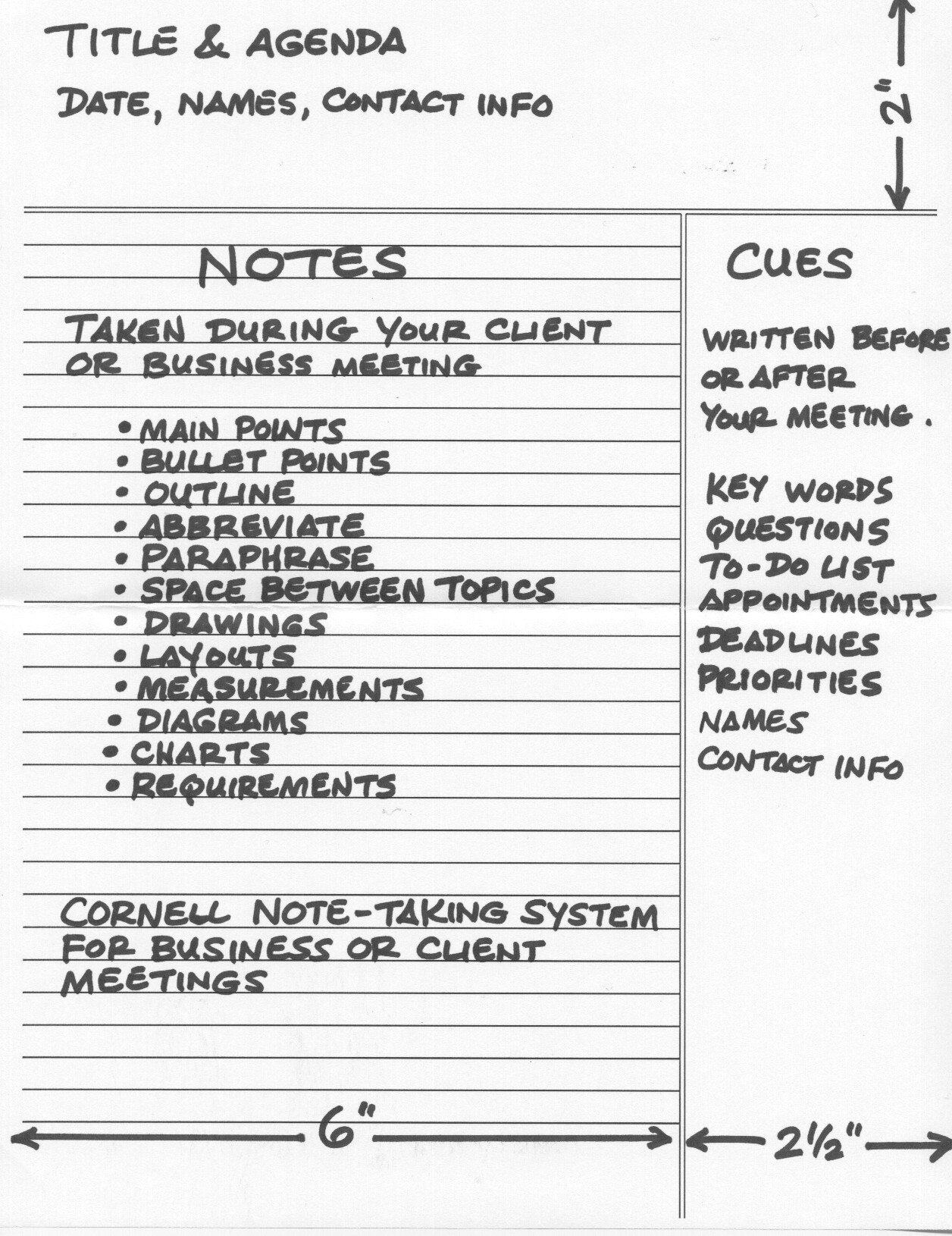 How To Use The Cornell Note Taking System Effectively For