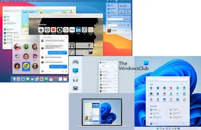 macos và hệ điều hành windows