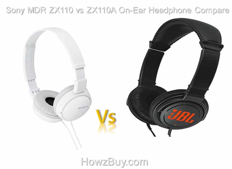 JBL C300 SI Vs Sony MDR-ZX110A On-Ear Headphone Compare