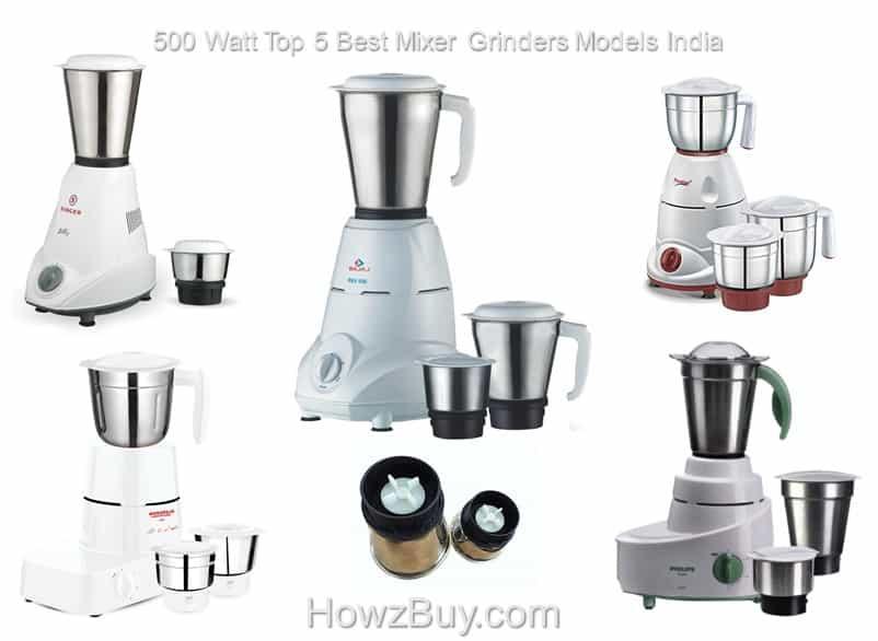 500 Watt Top 5 Best Mixer Grinders Models India