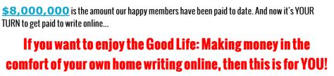 Writing jobs online claim