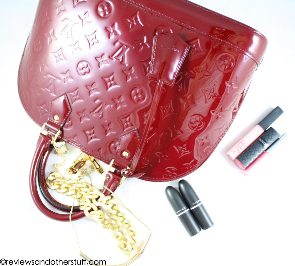 louis vuitton alma pm vernis leather griotte color review