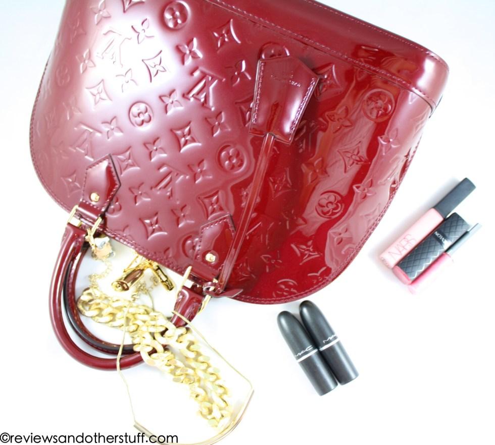 louis vuitton alma pm vernis leather griotte color review