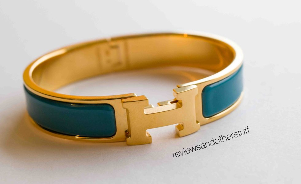 hermes clic h review in blue indian