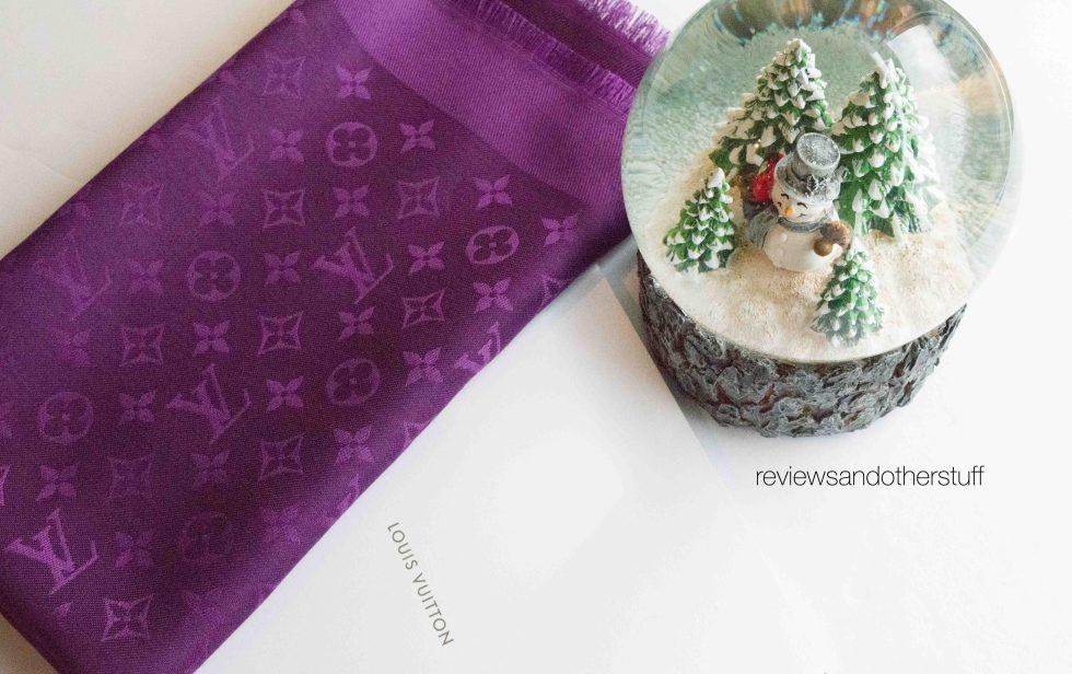 lv monogram cassis scarf