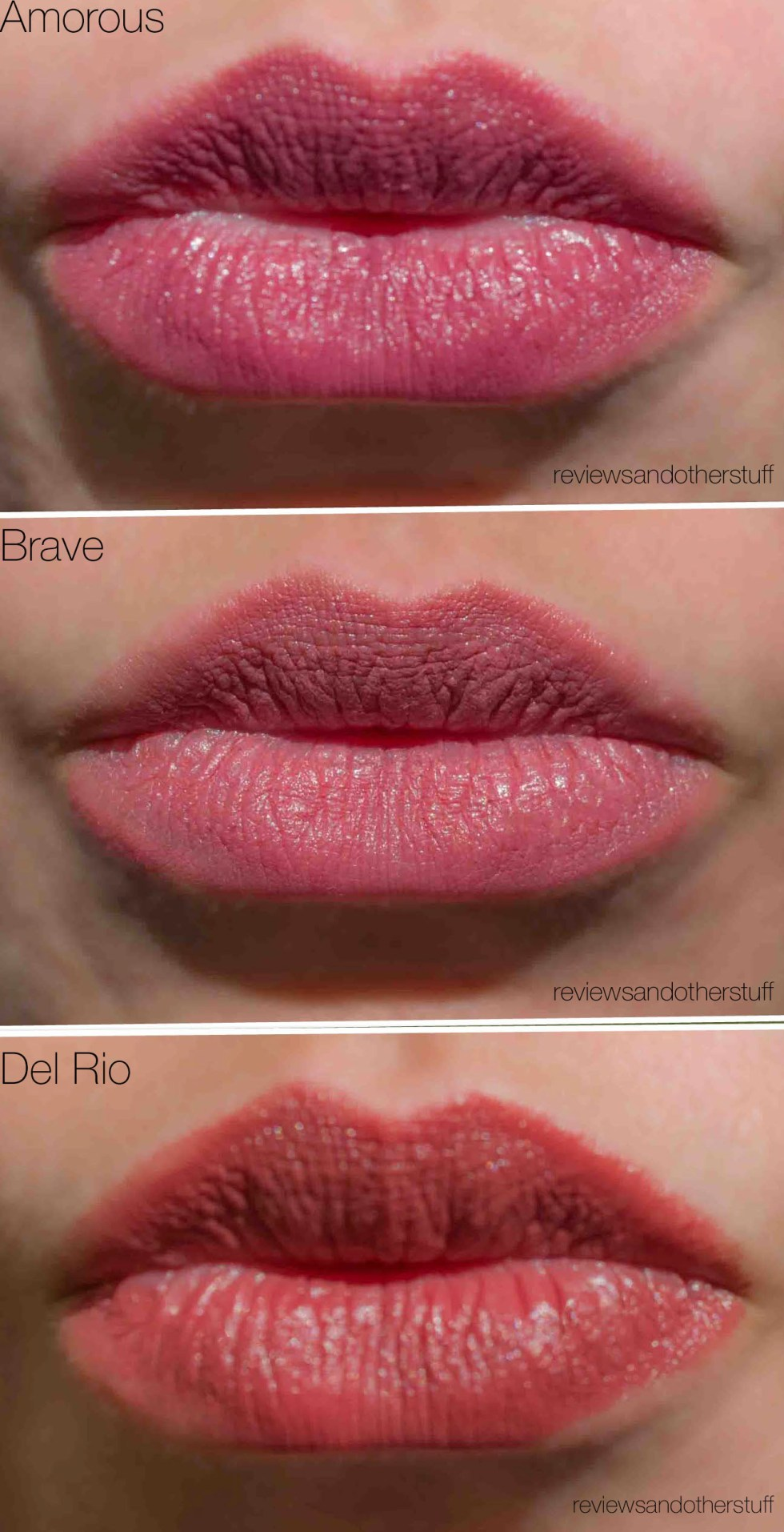 mac satin swatches on lips