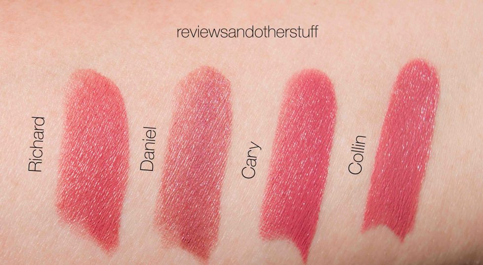 tom ford lips & boys swatches on arms